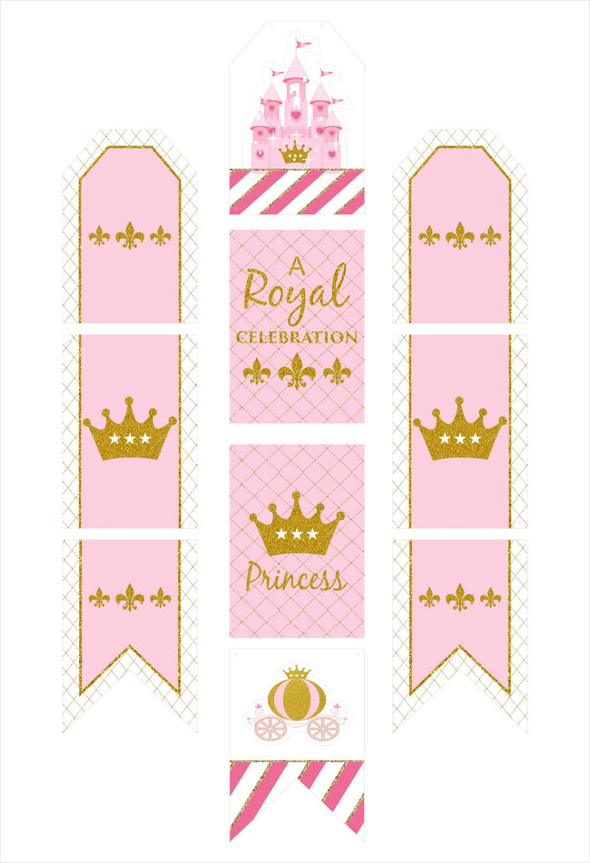 """CROWN PRINCESS"" -GIRLS WALL BANNER /CAKE AREA/ENTRANCE"