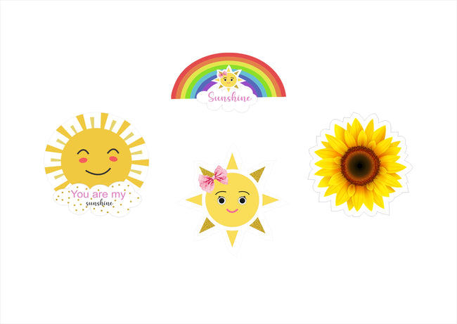 Sunshine  Theme Cutout  birthday/Baby welcome - Pack of 4