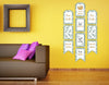 """Twins Baby"" - Hanging Vertical Paper Door Banners - Baby Welcome Party Wall Decoration Kit"