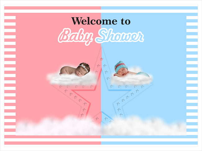 """Pink Or Blue"" - Welcome Lawn Sign - Baby Shower Party  - 1 Piece"