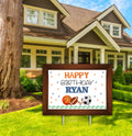 Only Sports - Welcome Lawn Sign - Birthday Decoration Welcome cut Out  - 1 Piece