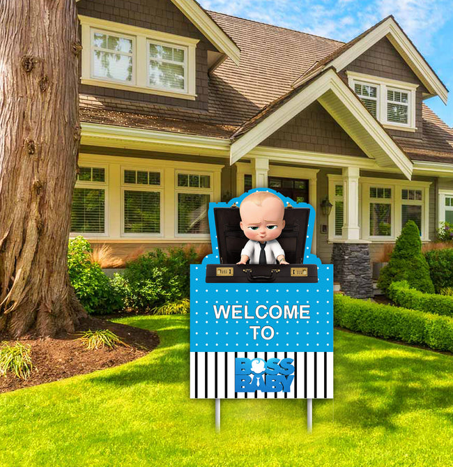 Boss Baby - Welcome Lawn Sign - Birthday Party  - 1 Piece