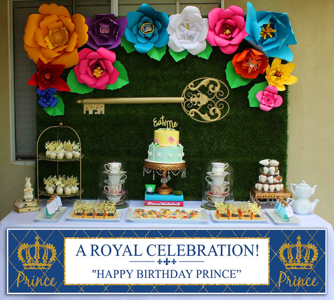 """CROWN PRINCE"" -BOYS LONG BANNER FOR WALL DECORATION, CAKE AREA, ENTRANCE"