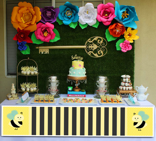 """What Will It Bee ""Baby Shower Banner for Wall Decoration, Cake Area, Entrance"