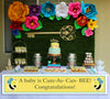 """What Will It Bee"" Baby Shower Banner for Wall Decoration, Cake Area, Entrance"