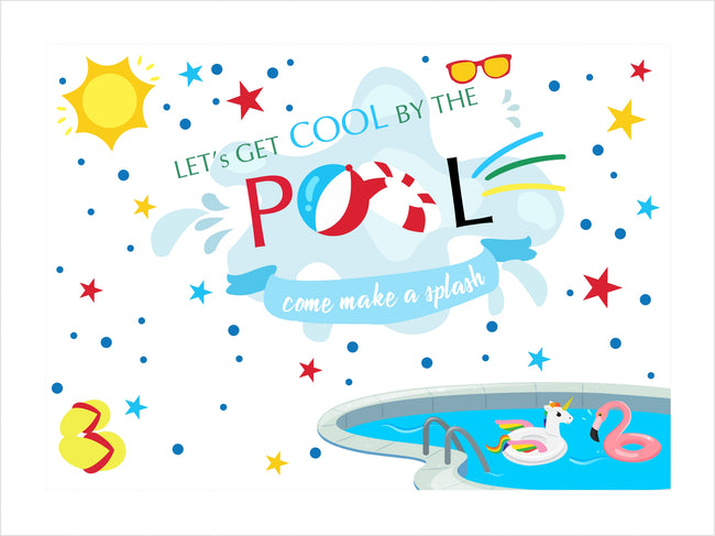 SPLISH SPLASH POOL PARTY BIRTHDAY PARTY BACKDROP FOR PHOTOGRAPHY BANNER GIRL KIDS EVENT CAKE TABLE DECOR HOME DECORATION PHOTO BOOTH BACKGROUND