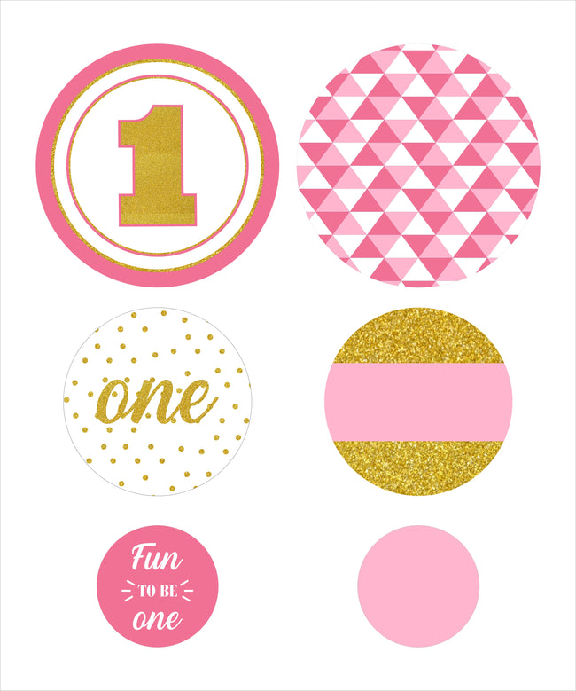 """ONE IS FUN ""- GIRLS BIRTHDAY PARTY DECORATIONS - LARGE CONFETTI(PACK OF 30)"