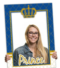 """CROWN PRINCE"" -BABY WELCOME/BIRTHDAY PARTY SELFIE PHOTO BOOTH FRAME & PROPS"