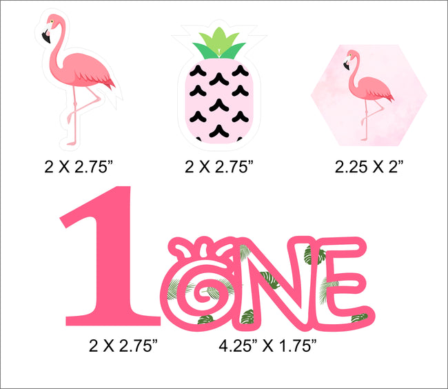 """Let's Flamingle"" Straw Set -Birthday Decoration or Baby Welcome - Set of 25"
