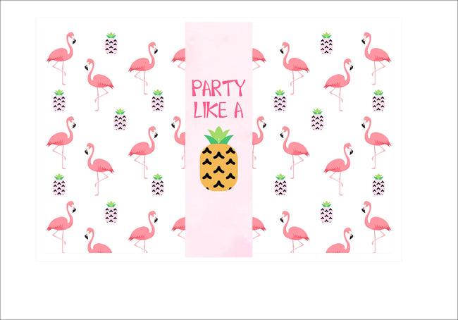 """Let's Flamingle"" Table Placemats for Birthday/ Baby Shower - Pack of 6"