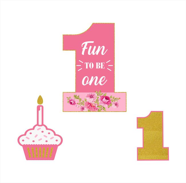 """One Is Fun"" -GIRLS TABLE TOP BIRTHDAY DECORATION"