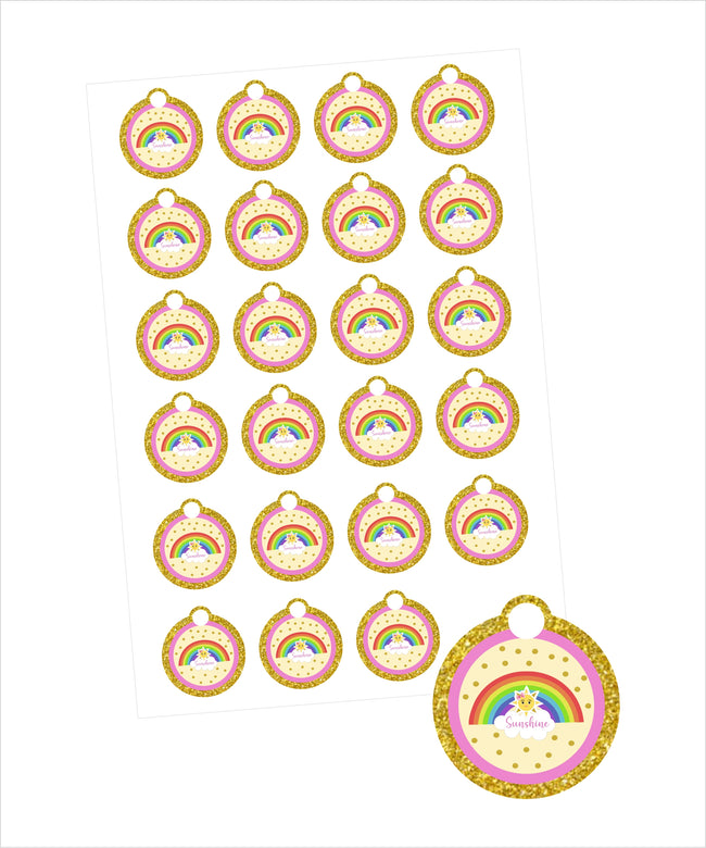 Sunshine Theme  Birthday Party/Baby welcome  Favor Gift Tags - 20