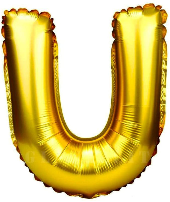 16 inch U Alphabet Letter Balloons Birthday Balloons Gold Foil Letter Balloons Birthday Party Decorations Kids
