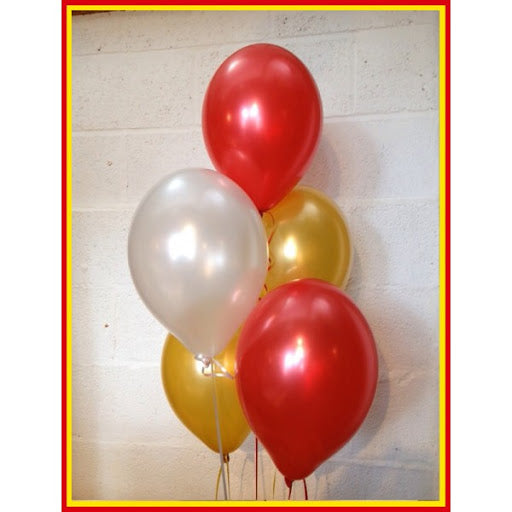"LOVE Balloons, Gold -16""inch,  - Pack of 29 - Valentines Day Decorations and Gift for Him or Her - Red and Gold Foil Heart Balloons - Gold Red and White Latex Balloons"