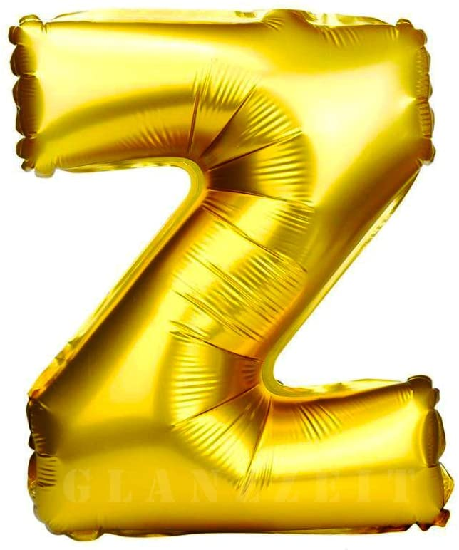 16inch Z Alphabet Letter Balloons Birthday Balloons Gold Foil Letter Balloons Birthday Party Decorations Kids