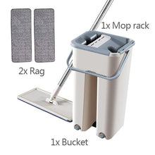 Laden Sie das Bild in den Galerie-Viewer, Floor Mop Set Automatic Mop And Bucket Avoid Hand Washing Microfiber Cleaning Cloth Flat Squeeze Magic Wooden Floor Lazy Mop