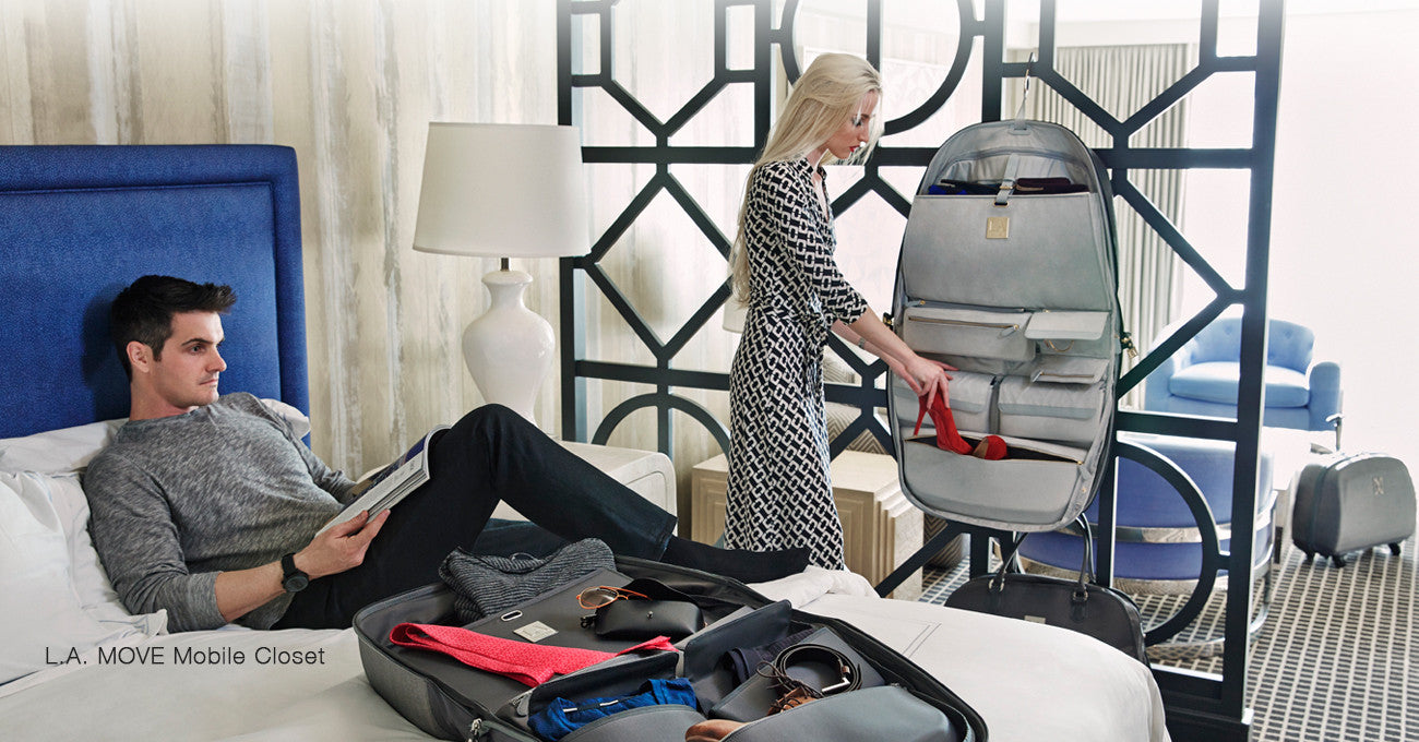 Carry on mobile closet suitcase for frequent travelers