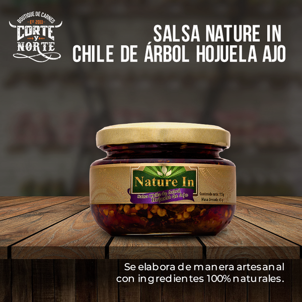 PASTA DE CHILE ARBOL AJO 120 GRS NATURE IN