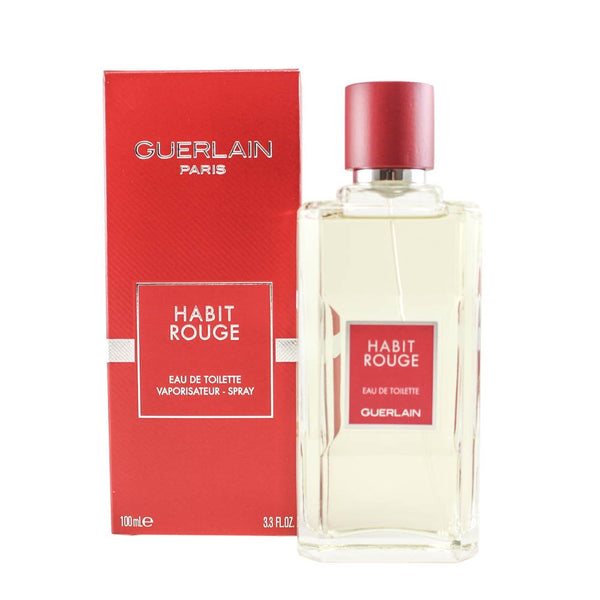 Guerlain Habit Rouge Eau De Toilette Spray 3.4 oz (Tester)