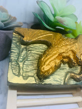 Load image into Gallery viewer, 3D Dinosaur Handmade Soap  / Vegan / SLS free / Charcoal Soap / Gift / Dragon
