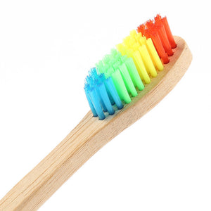 Natural Bamboo Eco-Friendly Rainbow Toothbrush