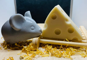 Mouse & Cheese Soap Set - 200g - Gift Boxed