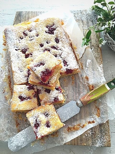 Lemon Berry Swirl Shortcake Bars