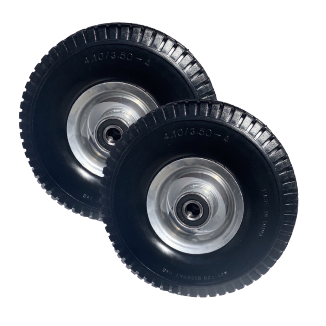 Qty 2 - Flat Free Jungle Wheels Tires
