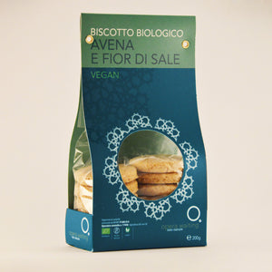 Biscotto biologico avena e fior di sale vegan