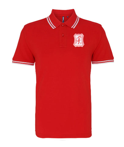 Red Aberdeen Retro Football Iconic Polo The Dons