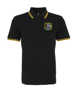 Black Australia Retro Rugby Iconic Polo Wallabies