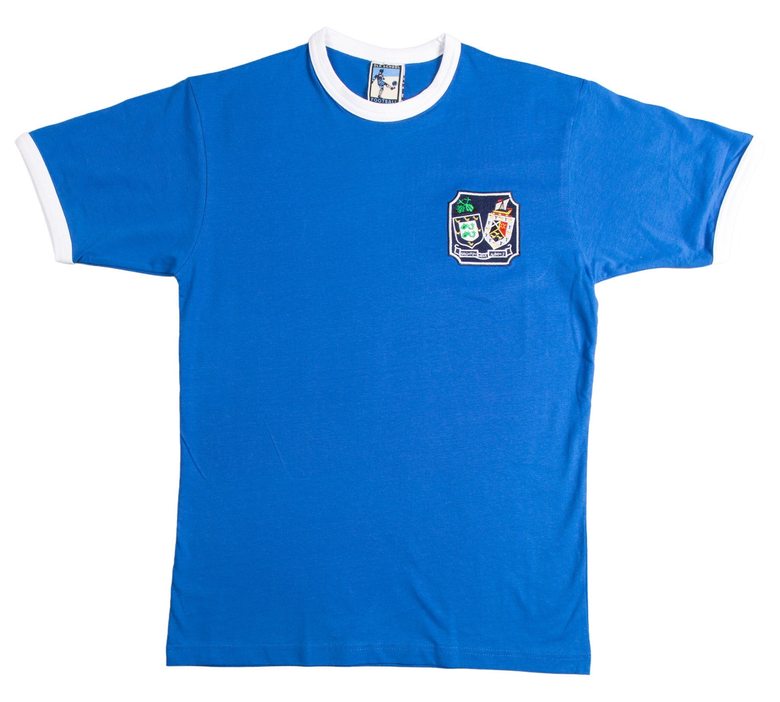 Brighton and Hove Albion Retro Football T Shirt 1940s - 1970s - T-shirt
