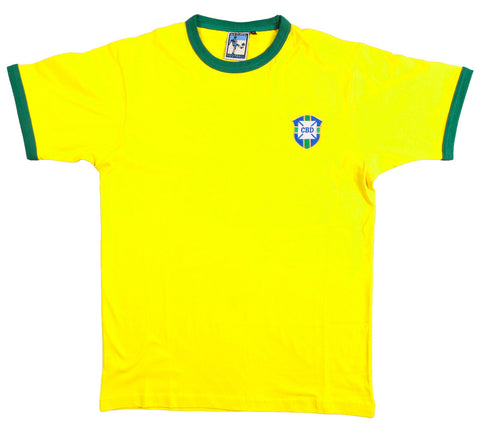 Brazil Retro Football T Shirt 1970s - T-shirt