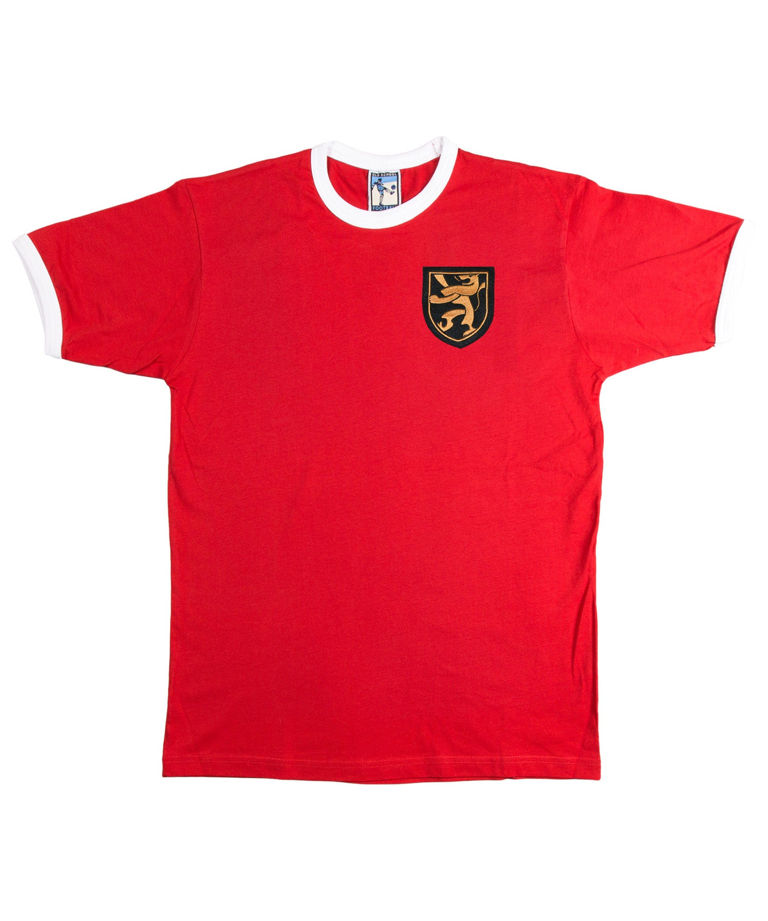 Belgium 1960's Football T Shirt Sizes S-XXXL Embroidered Logo - Old School Football