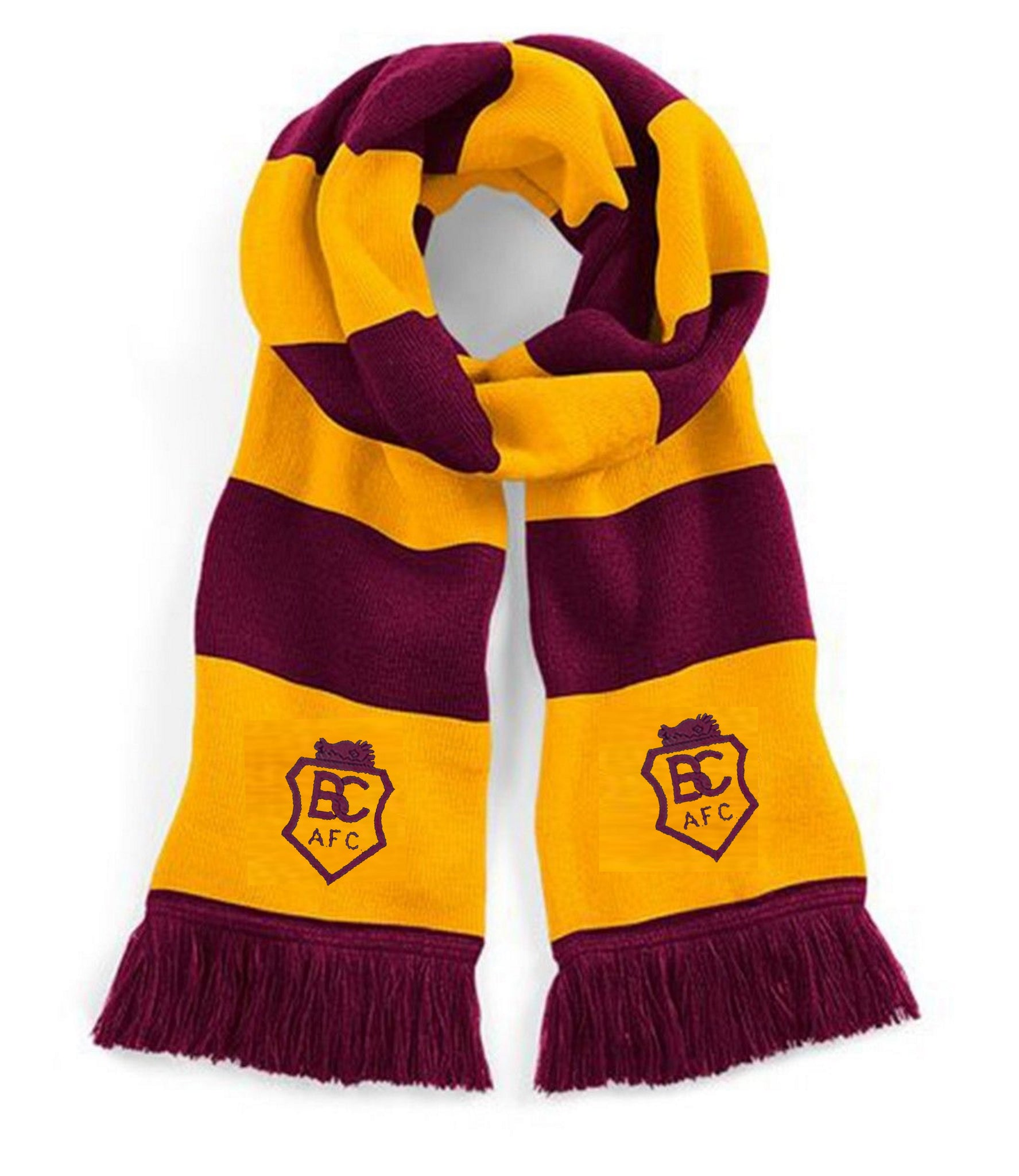 Bradford City Retro Traditional Football Scarf 1960s - Scarf