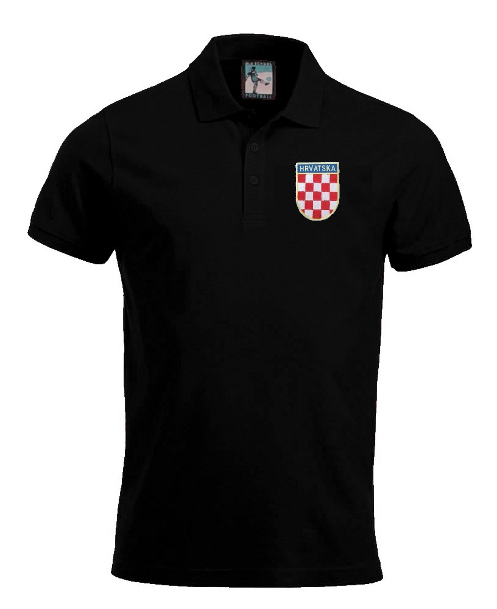 Croatia Retro Football Polo Shirt - Polo