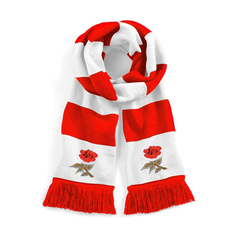 Retro England Rugby Scarf - Old School Football