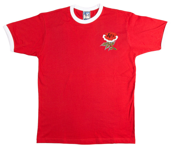 England Rugby Retro T Shirt 1910 - Old School Football