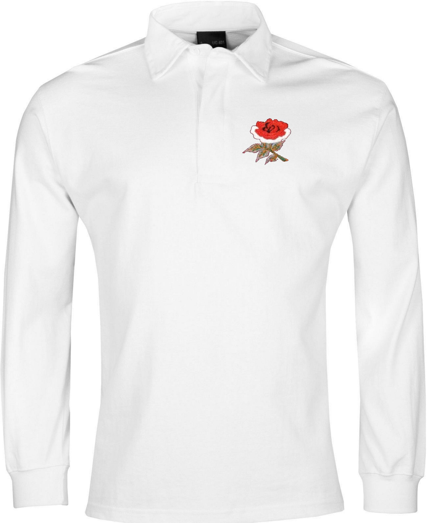 England Retro Rugby Shirt 1910 White Long-sleeved - Rugby Shirt