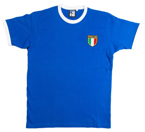 Italy Retro Football T Shirt 1960s - 1970s - Old School Football