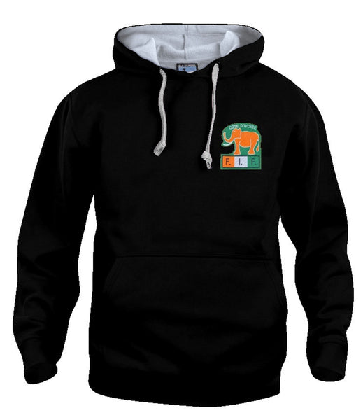 Ivory Coast Retro Hoodie Football 1980s - Old School Football
