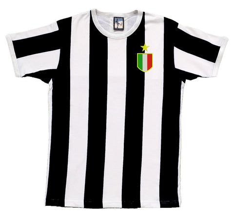 Juventus Retro Football T Shirt 1972 - 1976 - Old School Football