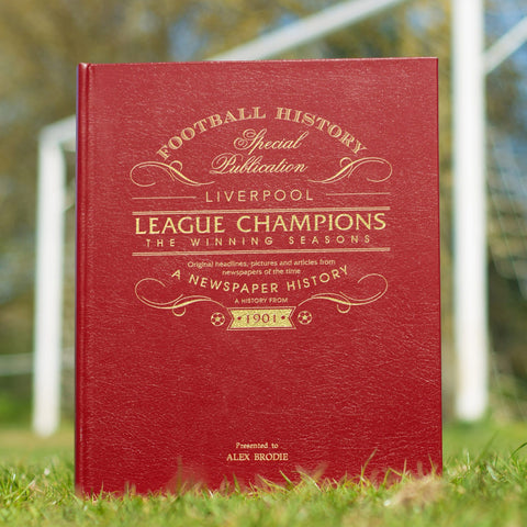 Newspaper Book - Liverpool League Champions 'The Winning Seasons' - Gift Book