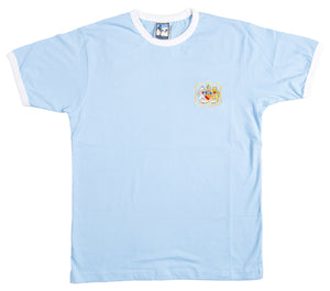 Manchester City Retro Football T Shirt 1940s - 1950s - Old School Football