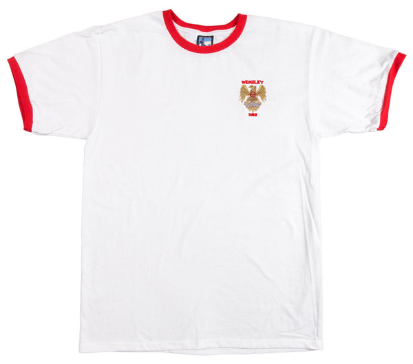 Manchester United Retro Football T Shirt 1958 FA Cup Final - T-shirt