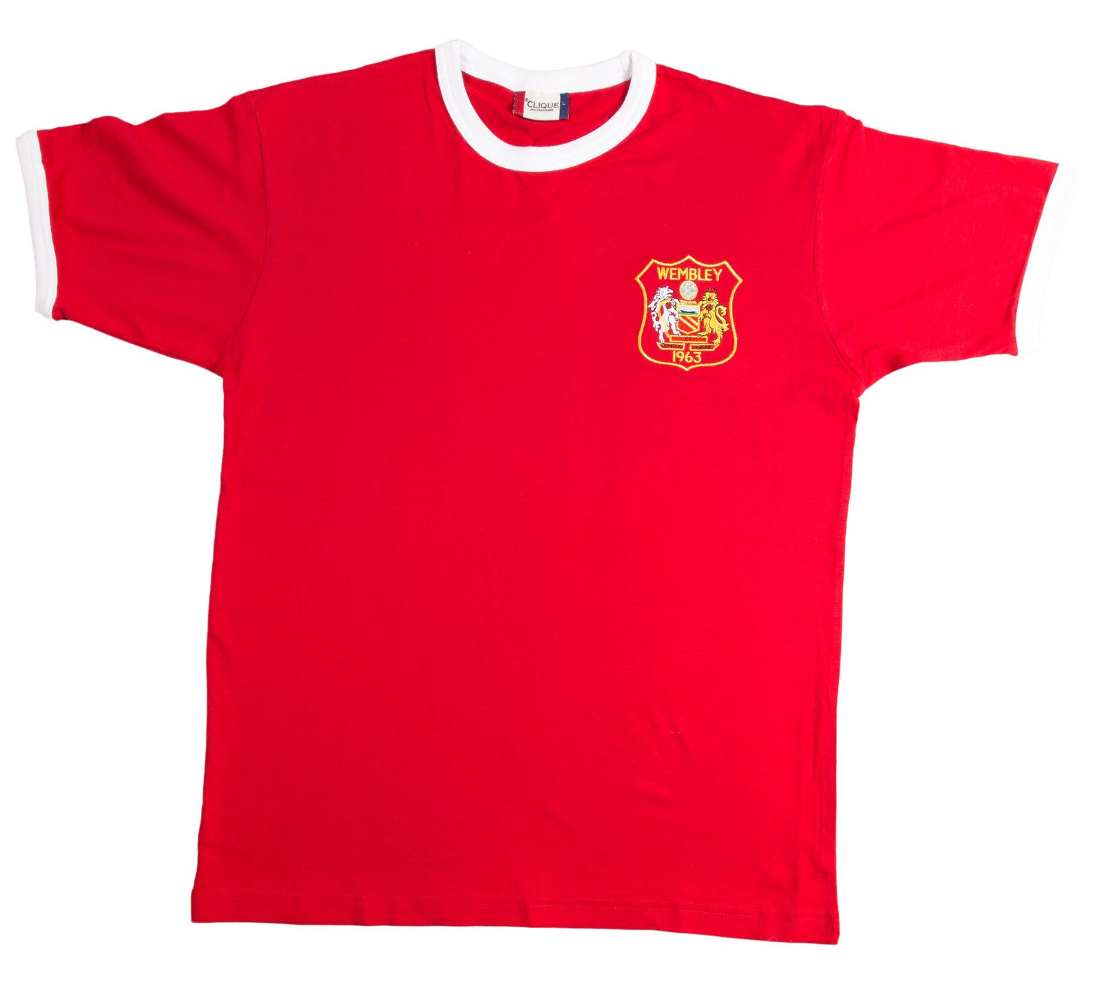 Manchester United Retro Football T Shirt 1963 FA Cup Final - T-shirt