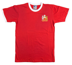 Manchester United Retro Football T Shirt 1970s Man Utd - T-shirt