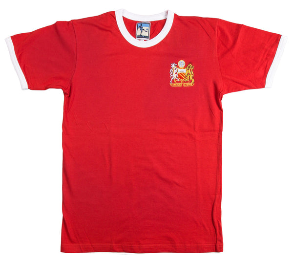 Manchester United Retro Football T Shirt 1970s Man Utd - Old School Football
