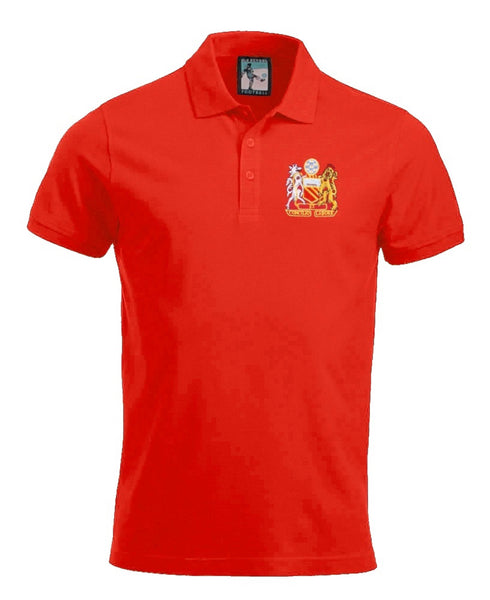 Manchester United Retro 1970s Football Polo Shirt - Polo