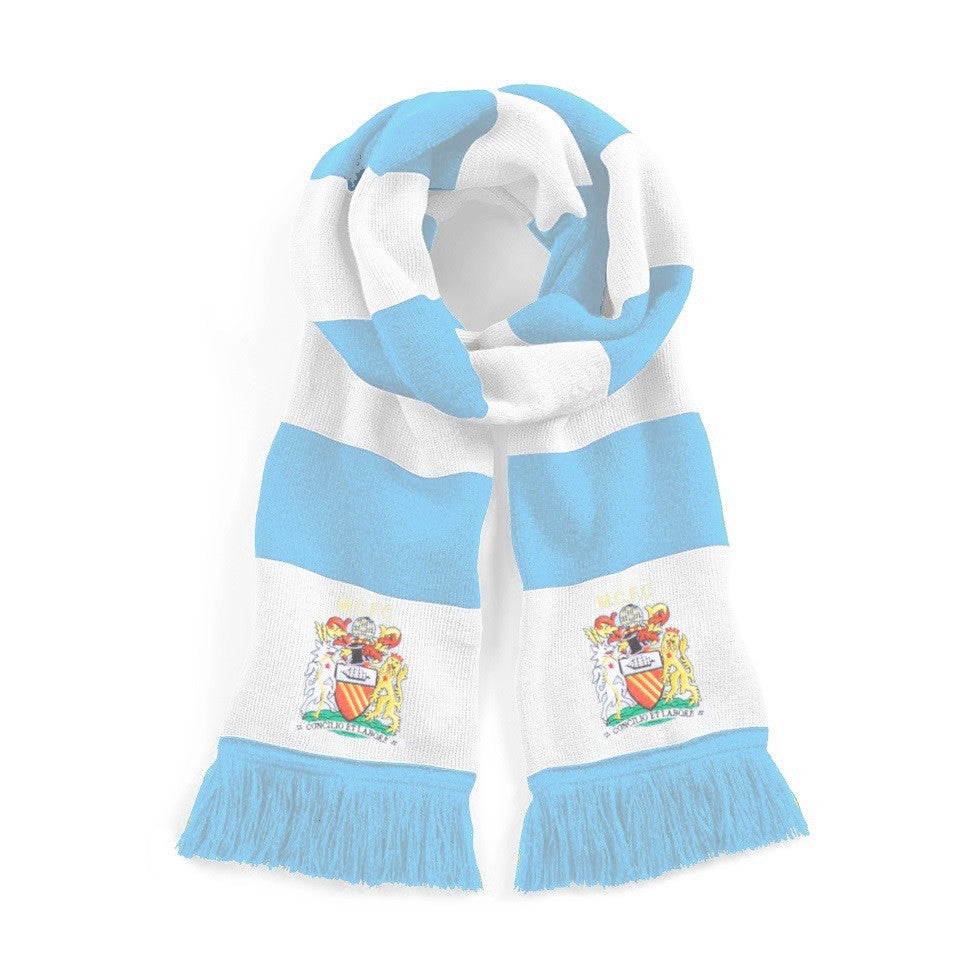 Manchester City Retro 1976 - 1981 Football Scarf - Scarf
